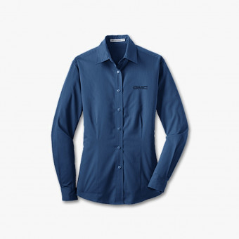 Dark blue cotton male shirt M