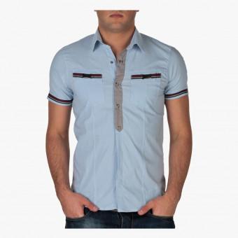 Light blue polyester male XL