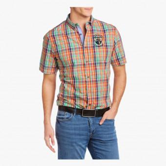 Orange cotton male t-shirt M