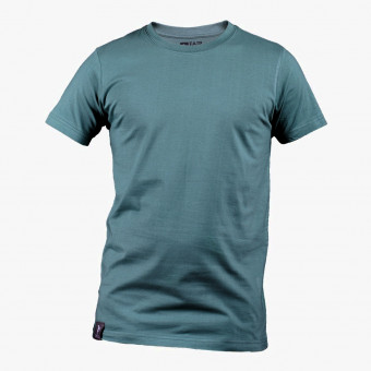 Light blue polyester male t-shirt L