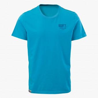 Blue cotton male t-shirt L