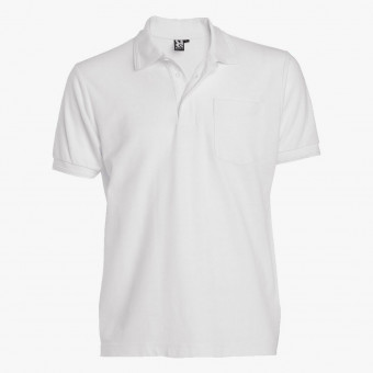 White cotton male t-shirt S