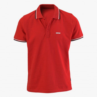 Red cotton male t-shirt S