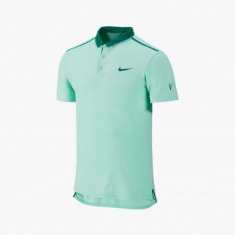 Light green polyester male t-shirt XS