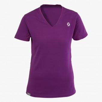 Purple cotton female t-shirt XS