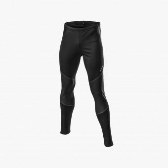 Black polyester male legging M