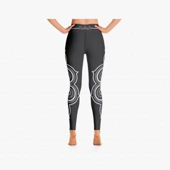 Dark gray polyester female legging M