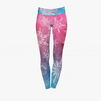 Pink polyester female legging L