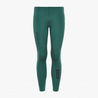 Dark green polyester male legging L