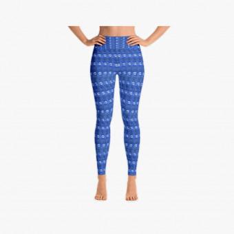 Blue polyester female legging S