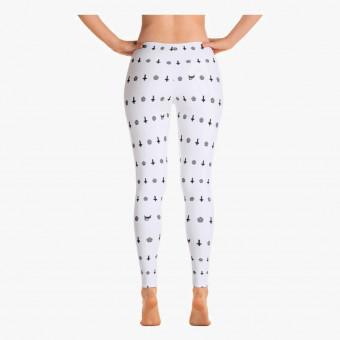 White polyester female legging S