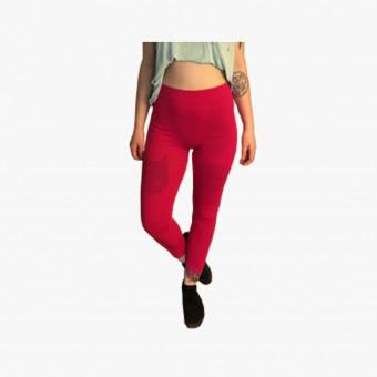 Red polyester female legging XL